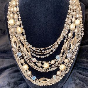 Vintage Multi-Stranded Bead Necklace
